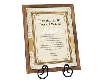 Poetry Congratulation Medical School Doctor Pharmacy Optometry Dental School Walnut Plaque Graduation Present for Medical Doctor