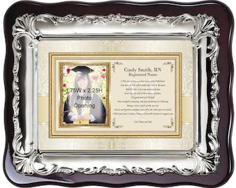 Personalized Picture Frame for Nursing School Graduation Gift or Nurse Practitioner Present. Registered Nurse RN BSN DNP Graduate Poem