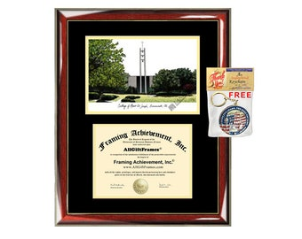Mount St. Joseph University diploma frames lithograph MSJ frame campus sketch certificate framing graduation degree campus picture graduate
