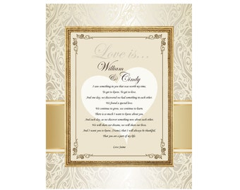 Love Romantic Gift Frame Birthday I Love You Present Girlfriend Boyfriend Wife Husband Engagement 11x14 Unframed Matted Poem Romantic