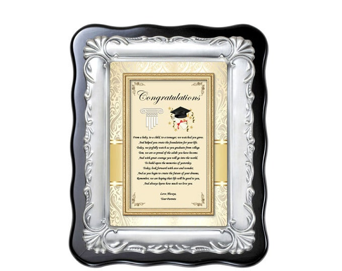 Graduation Gift Plaque Present for High School or College University Graduate Congratulations Law School Medical Medicine