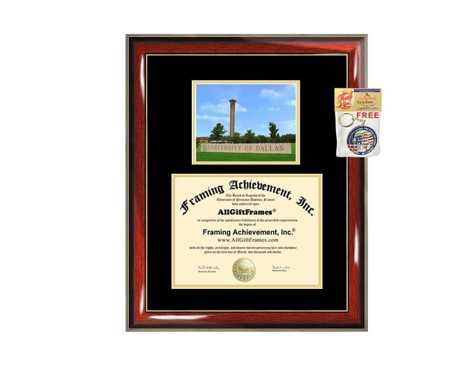University of Dallas diploma frame campus photo certificate framing graduation document college degree plaque graduate document frames