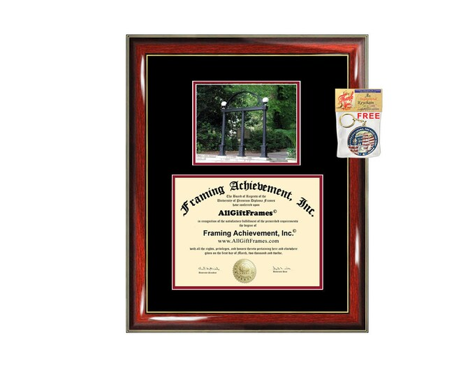 University of Georgia diploma frame campus photo certificate framing graduation document plaque UGA degree gift graduate certification