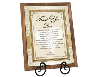Poetry Gift for Father Personalized Dad Appreciation Poem Present Walnut Plaque Birthday Love Thank You Present Fathers Day Wedding Daughter