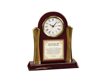 Personalized Optometry Pharmacy Dental Medical School Graduation Gift Poetry Clock Graduate Present Congratulation Medical Doctor Physician