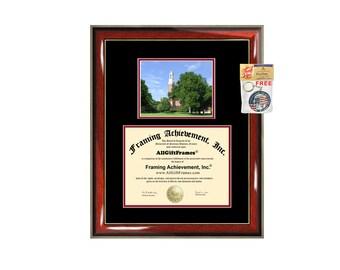 Miami University Ohio diploma frame campus picture Miami certificate framing campus photo graduation gift document holder college graduate