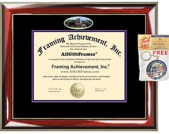 Hardin-Simmons University diploma frame campus certificate HSU degree framing double mat graduation gift bachelor master mba phd doctorate