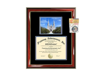 Villanova University diploma frame framing graduation degree plaque graduation document picture frame campus photo certificate