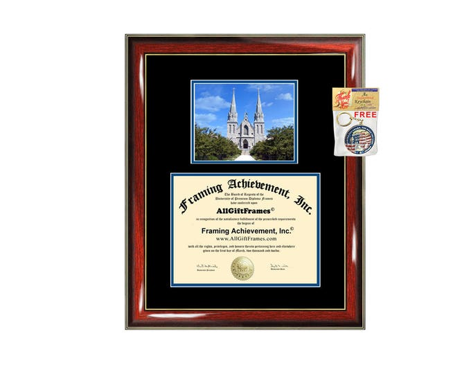 Villanova University diploma frame framing graduation degree plaque graduation document picture frame campus photo certificate