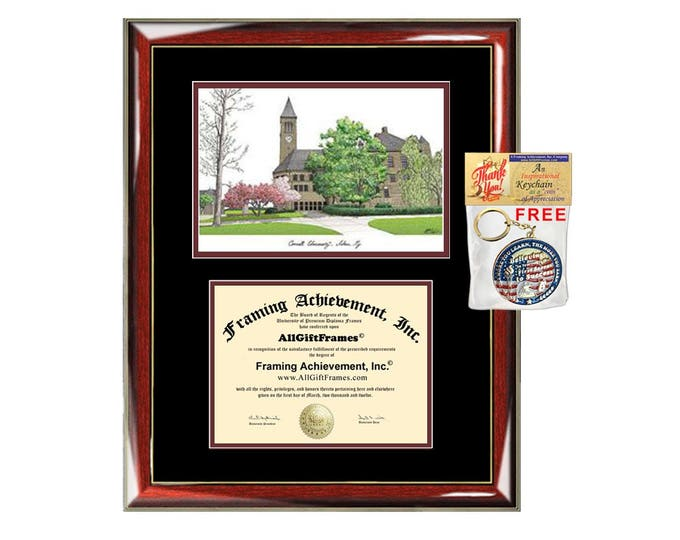 Cornell University diploma frames Cornell lithograph degree frame sketch certificate framing graduation gift college plaque graduate plaque