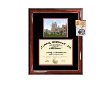 Northern Illinois University NIU diploma frame campus certificate NIU degree frames framing gift graduation plaque document certification