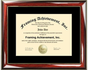 College Diploma Frame Single Black Mat University Frames High School Certificate Frames Diploma Framing Graduation Glossy Prestige