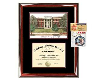 Sul Ross State University diploma frames lithograph SRSU frame campus image sketch certificate framing graduation degree graduate gift grad
