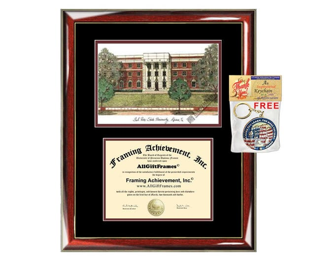 Sul Ross State University diploma frames lithograph SRSU frame campus image sketch certificate framing graduation degree graduate gift grad