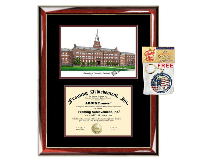 University of Cincinnati diploma frames Cincinnati lithograph frame sketch certificate framing graduation degree gift college grad plaque