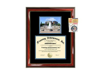 Indiana State University diploma frame campus certificate ISU degree frames framing gift graduation plaque document college alumni