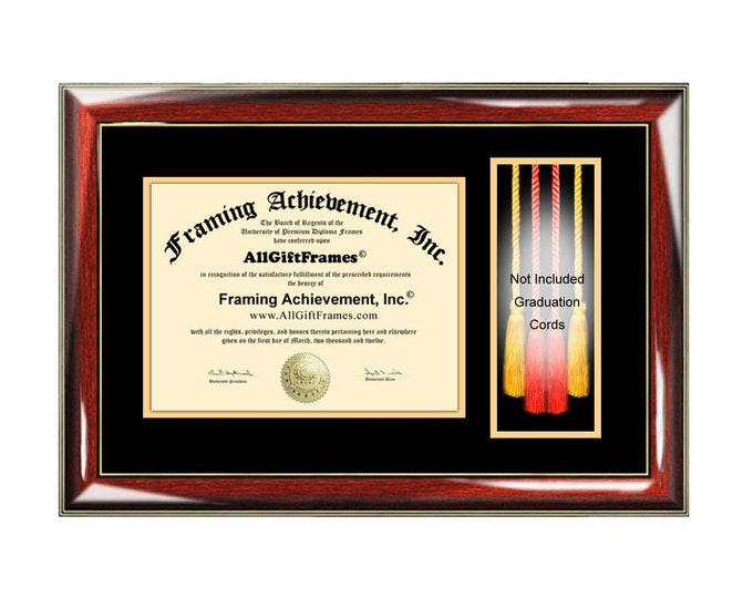 Graduation Cord Box Diploma Frame Honors Alumni Graduate Degree University College Gift Tassel Framing Graduation Cords Holder Case Display