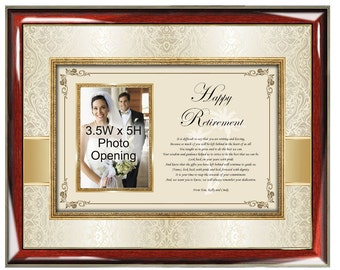 Picture Retirement Photo Frame Personalized Retirement Gifts for Coworkers Colleague Boss Picture Frame Photo Plaque