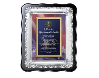 Army Personalized Gift Military Retirement Discharge Going Away Homecoming Soldier Plaque Present