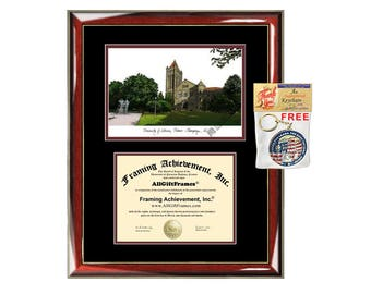 University Illinois Urbana Champaign diploma frames lithograph UIUC frame campus image sketch certificate framing graduation degree case
