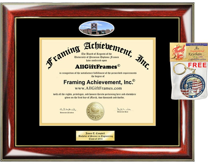 Queens College diploma frame CUNY campus school picture degree Personalized Bachelor Master Doctorate phd mba Engrave Holder Case