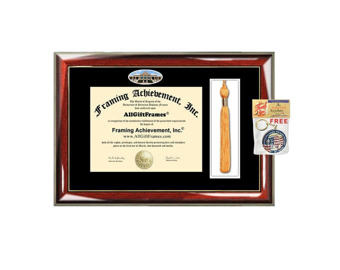 University of Texas Arlington diploma frame tassel holder case graduation campus school picture degree gift college plaque graduate case