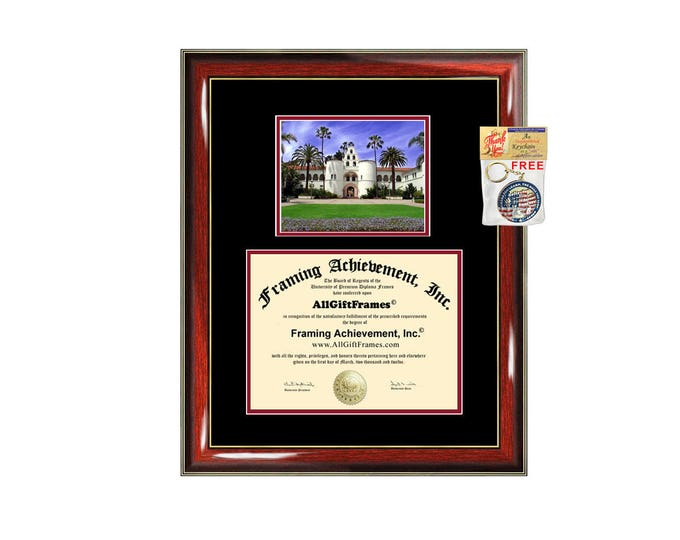 SDSU diploma frame San Diego State University certificate framing graduation Cal State document college plaque campus photo