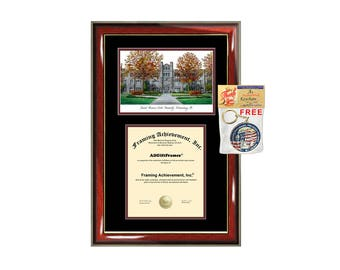 Central Missouri State University diploma frames lithograph CMSU frame campus image sketch certificate framing graduation degree picture