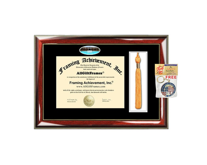UCF diploma frame University of Central Florida Diploma Tassel Holder campus photo framing graduation degree gift college plaque certificate