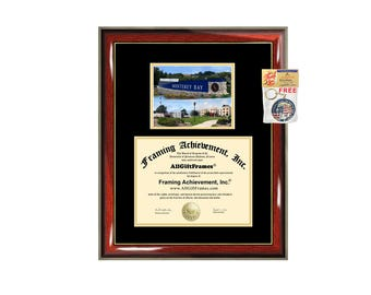 CSUMB diploma frame campus photo California State University Monterey Bay certificate framing graduation Cal State document college plaque