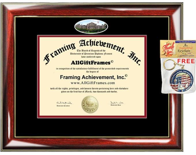 Catholic University of America diploma frame CUA certificate degree school picture framing graduation gift plaque document graduate alumni