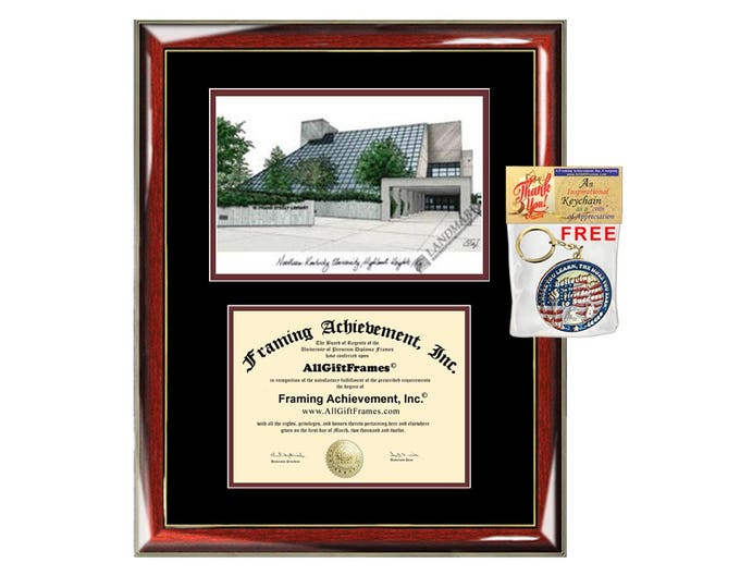 Northern Kentucky University diploma frames NKU lithograph frame certificate framing campus sketch graduation degree gift college document