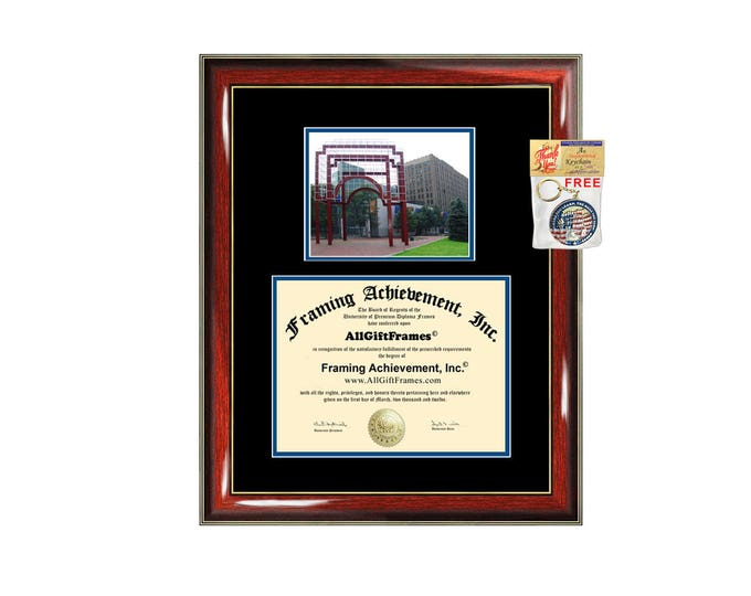 Long Island University diploma frame LIU Brooklyn certificate framing graduation document plaque degree gift college campus photo bachelor