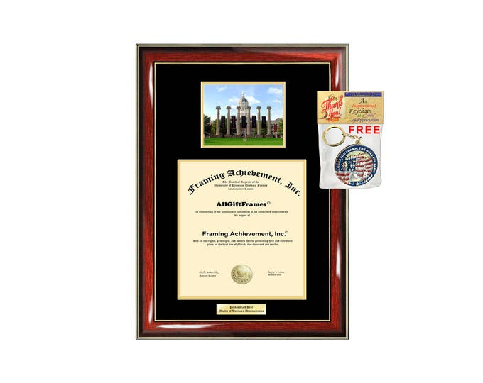 University of Missouri diploma frame Columbia campus photo certificate Personalized Bachelor Master Doctorate phd mba Engrave Holder Case