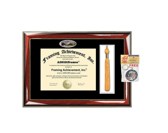 CSUSB California State University San Bernardino diploma frame tassel holder case degree certificate graduation campus photo framing box