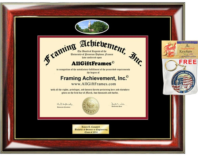 Miami University diploma frame campus picture Ohio certificate Bachelor Master Doctorate phd mba Engrave Holder Case Degree Framing Student