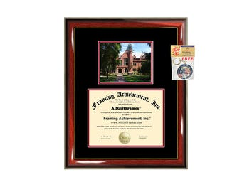Pacific University Oregon diploma frame campus degree certificate framing gift graduation frames plaque certification award document