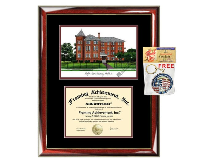 Norfolk State University diploma frames NSU lithograph frame campus sketch framing graduation degree gift college plaque certificate photo
