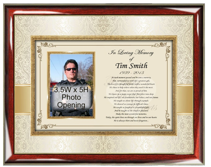 Sympathy Memorial Poetry Frame Personalized Picture Frame Poetry Gifts for Loss of Mother Father Family Friends