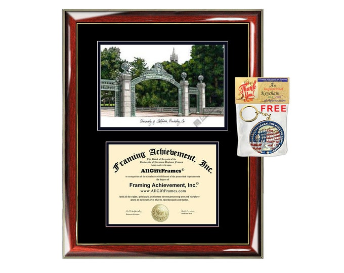 University of California Berkeley diploma frames Cal Berkeley lithograph frame campus sketch framing graduation degree gift college plaque