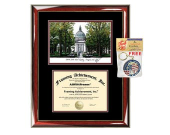 United States Naval Academy diploma frame lithograph campus image USNA certificate degree frames framing gift graduation plaque college grad
