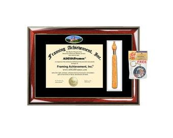 Auburn University diploma frame Tassel Box Case Holder campus picture certificate Auburn degree frames graduation tassel college alumni