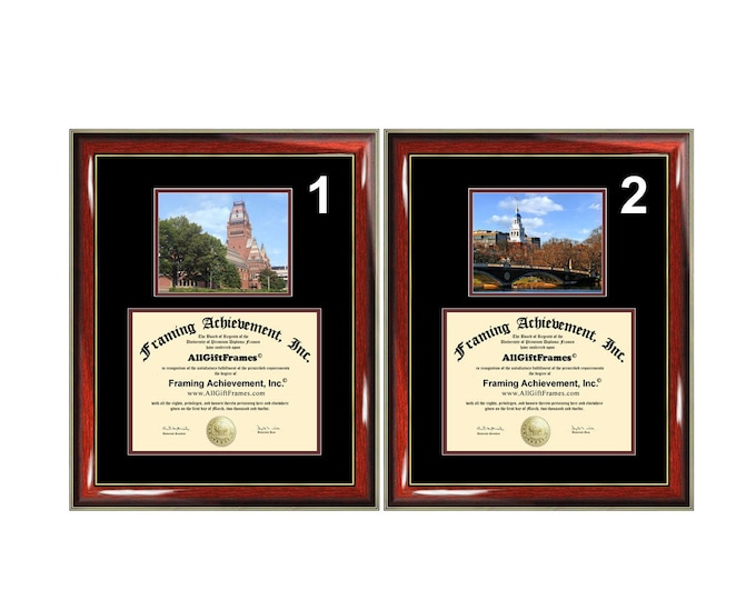 Harvard University diploma frame campus photo degree frames framing gift Harvard graduation certificate plaque document graduate bachelor
