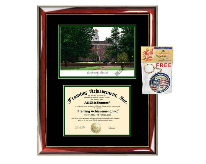 Ohio University diploma frames Ohio lithograph frame certificate framing campus sketch graduation degree gift college graduation case grad