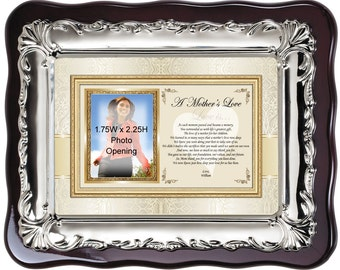 Personalized Picture Frame Gift for Mom Wedding or Birthday to Say Thank You with Love. Personalized gifts of poetry for mother or mom