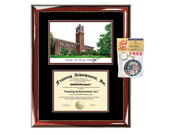 WSU diploma frames Washington State University lithograph degree frame sketch certificate framing graduation gift college plaque graduate