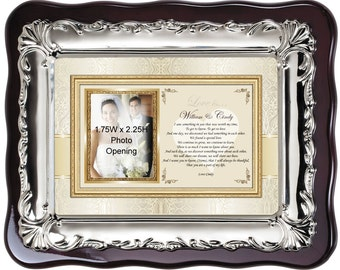 Personalized Picture Frame Love Anniversary Birthday Present. Photo Frame Plaque for Husband Wife Boyfriend Girlfriend I Love You