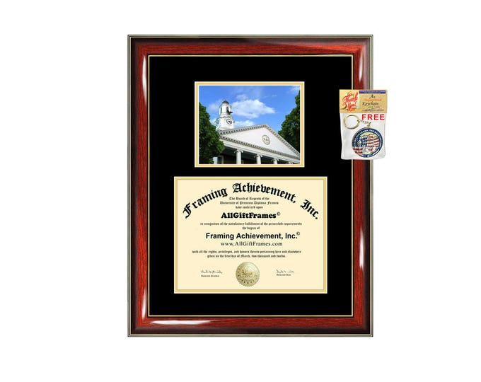 Tennessee Technological University diploma frame campus picture TTU degree plaque graduation document picture frame certificate framing grad