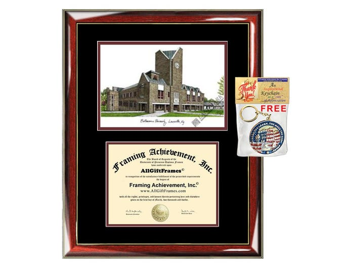 Bellarmine University diploma frames Bellarmine lithograph frame certificate framing campus sketch graduation degree gift college grad case