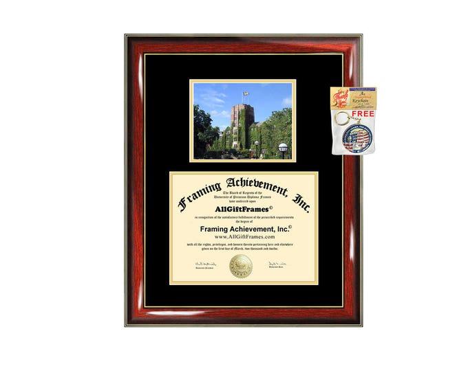University of Michigan diploma frame campus photo certificate framing graduation document college degree plaque graduate document picture